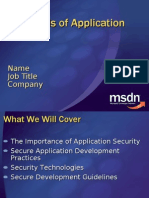 Essentials of Application Security