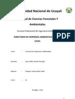 Directorio de Empresas Ambientales