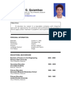 fresh graduate resume sample document mark ryan quiambao resume philippines - Sample Resume For Fresh Graduate