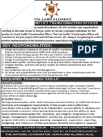Job Advert - Land Transformation Officer (5)