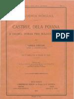 Vasile Pârvan, Castrul de la Poiana şi drumul roman prin Moldova de Jos
