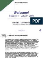 Strategic Business Planning Part 4