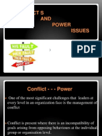 conflicts and power issues