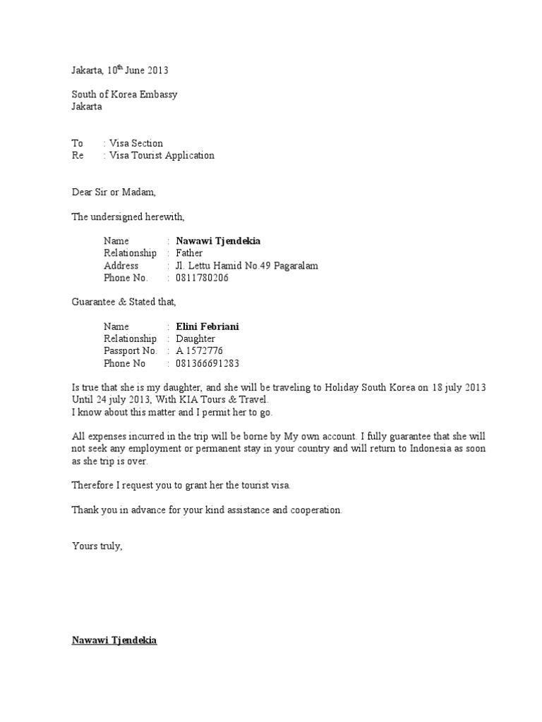 Boca Resort These Contoh Surat Izin Orang Tua Untuk Visa