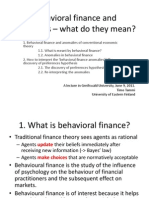 Behavioralfinance and anomalies