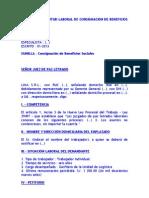MODELO DE SOLICITUD LABORAL DE CONSIGNACIÓN DE BENEFICIOS SOCIALES