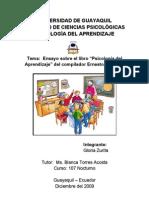 Resumen Del Libro Psico Del Aprendizaje