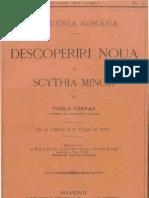 Vasile Pârvan, Descoperiri Nouă în Scythia Minor