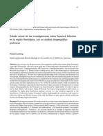 estado actual de las investigaciones sobre liquenes folicolas en la regino neotrópica