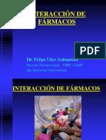 INTERACCIÓN DE FÁRMACOS