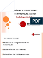 Etude Web Algérie