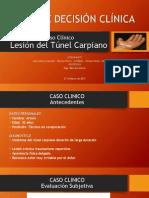 1 Caso Clìnico Sindrome del Túnel Carpiano