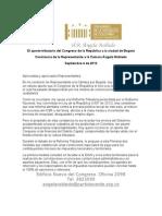 Constancia sobre impuestos en Bogotá
