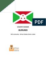 Country Dossier Burundi - Eindversie