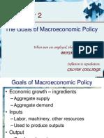 2.Goals of Macroeconomic Policy