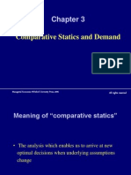 Chapter 3 Comparative Statics and Demand
