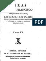 Obras de Don Francisco de Quevedo Villegas - Tomo IX (1791)