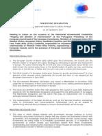 Ministerial Declaration 180907