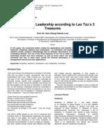 Motivation and Leadership According to Lao Tzu