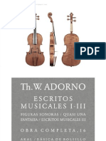 Theodor w. Adorno - Escritos Musicales I-III