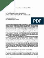 La Solidaridad Como Alternativa_notas Sobre El Concepto de Solidaridad