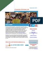 PublicSchoolOptions.org September 2013 Newsletter