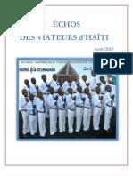 Echos Viateurs Haiti Aout 2013