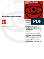 Monitoring and Evaluation Guidelines
