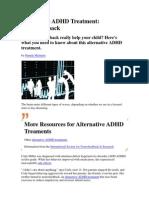 Alternative ADHD Treatment