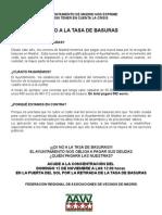 Cartel Informativo Tasa de Basuras