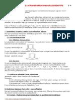 Site TS C 11 Controle de La Transformation Par Les Reactifs