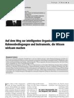 Auf dem Weg zur intelligenten Organisation – Rahmenbedingungen und Instrumente, die Wissen wirksam machen
