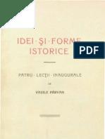 Vasile Pârvan, Idei şi forme istorice. Patru lecţii inaugurale