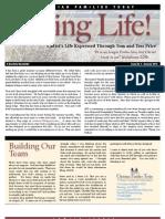 Living Life Newsletter Summer 2013