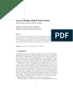Optical Design Using Fresnel Lenses