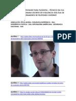SUGESTÃO DE ATIVIDADE PARA FILOSOFIA AGENTE DA CIA