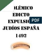 Respuesta al Edicto de Expulsión de los Judíos de España del 31 de marzo de 1492