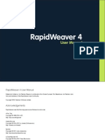 Rapidweaver4 Manual
