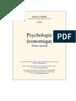 Gabriel Tarde - Psycho Economique T2
