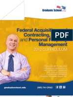 Federal Acquisition & Contracting, Grants, & Personal Property Management Brochure