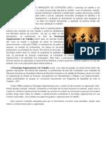 Atuação em Psicologia Organizacional e do Trabalho