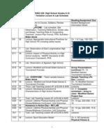 lab schedule