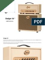 Suhr Badger 30 Manual FINAL