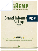 2009 NuHemp Brand Information Package