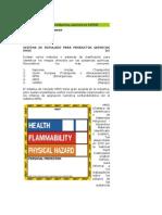 Rotulación para productos químicos HMIS