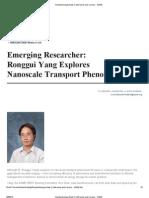 Nanotecnología Noticias Conferencias y carreras - ASME