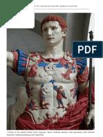 Colour on Ancient Marble Sculpture