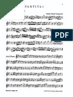 Telemann - 6 Partitas for Violin (or Flute or Oboe) Cello