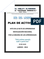 Plan de Actividades Dia Del,Logro Ceba Aoe
