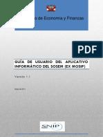 Guía del Usuario para el Aplicativo Informático del SOSEM